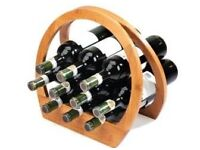 Umbra Barrel bamboo wine rack fits 12 standard bottles