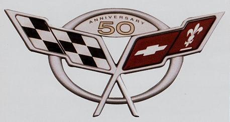 Corvette 50th Anniversary Emblem | eBay
