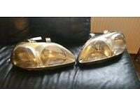 4 Honda civic 3 Dr pre facelift front headlights