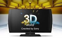 "Sony 24"" 3D tv with 3D glasses"