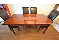 Solid mahogany dining table, bespoke from Siesta Chapman