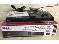 LG RHT498H Multi Format DVD Recorder,250GB HARD DRIVE HDD, HDMI FREEVIEW