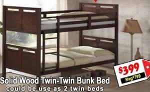 ***Solid Wood Bunk Bed***