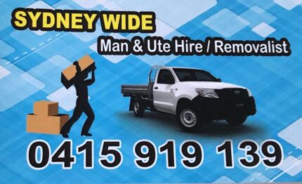 Sydney City Man And Ute Hire And Removals