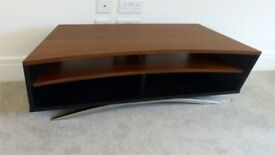 TV Stand Techlink Prisma 130 for up to 65ins TV in Walnut and black veneer