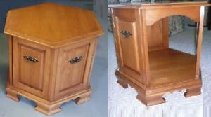 2 (two) Roxton solid Maple end tables - $75 for pair