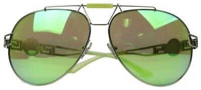 Versace Lime Green Aviators, Unisex, Versace Case and Box.