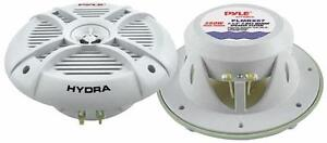 Pyle Marine Audio (PLMRX67) HYDRA 250 Watts 6.5'' 2 Way Marine Speakers (Pair)