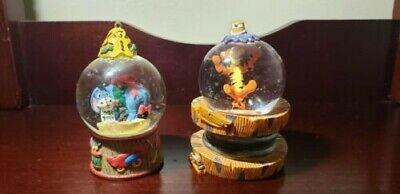 "Vintage Disney Tigger & Eeyore mini 3.5"" Snow Globe Set"