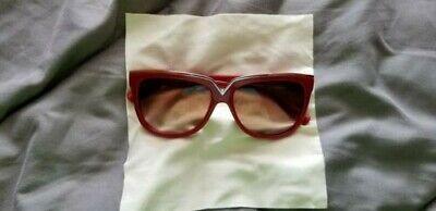 Valentino V638S 613 RED rectangle Valentino Sunglasses