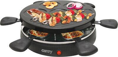 Raclette Grill 1200 W Parrilla Eléctrica 6 Sartenes Antiadherente Multifunción