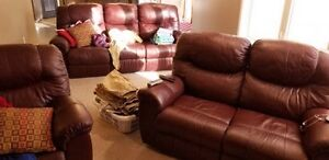 Couch loveseat and chair for sale