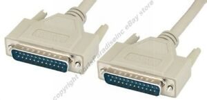 6ft-IEEE1284-DB25-pin-Male-M-Parallel-Bi-Directional-Switch-Box-Cable-Cord-AA