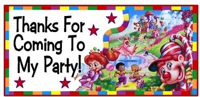 Candyland Baby Shower (10 Candyland Candy Land Birthday Party Or Baby Shower Thank You)