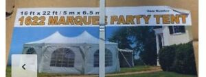 New 16x22 Marquee Party tent for weddings or outdoor events