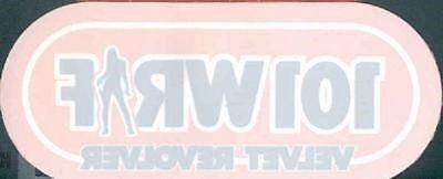 """Velvet Revolver  WRIF 101 FM Detroit """"cling"""" STICKER"""