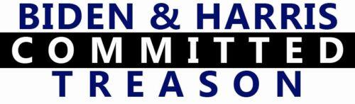 BIDEN & HARRIS COMMITTED TREASON ~~ BUMPER STICKER!!