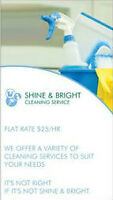 SHINE & BRIGHT CLEANING SERVICES !