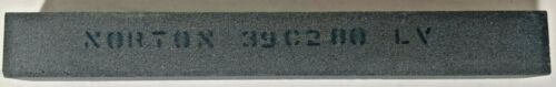 "NORTON 3/4 x 13/16 x 6"" 280 GRIT ABRASIVE SILICON CARBIDE DRESS STONE 39C 280 LV"