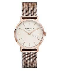 ROSEFIELD The Tribeca Analog Rose Goldtone Mesh Bracelet Watch
