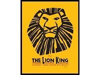 2 x Premium Lion King Tickets ((New York) to Download.