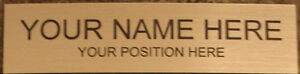 NAME PLATE for office desk or door sign / plaque - personalized office supplies
