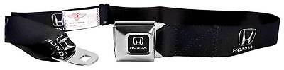 Seatbelt Men Canvas Web Military Honda H Civic Pilot Accord Logo Black Silver