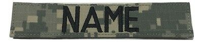 """ACU  Custom Name Tape with Fastener 1""""x 5"""" Length - US Army Military"""