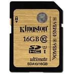 Kingston SDHC 16 GB class 10 UHS-I geheugenkaart
