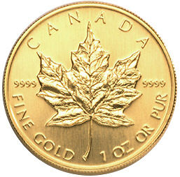 Dozens of Gold Maples and 1 oz bars in stock right now!
