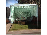 Market Stall Metal with Tarpaulin and 3 large Tables for sale