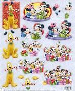 Disney Die Cut Decoupage