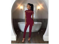 Women's choker high neck Jumpsuit