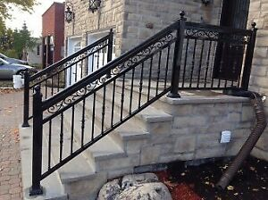 Aluminum railings column ggate privacy fence