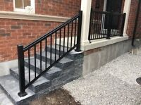 Stair railings porch railings Toronto Brampton Woodbridge Maple