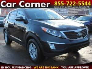 2013 Kia Sportage LX / LOW MILEAGE + FACTORY WARRANTY - $140 B/W