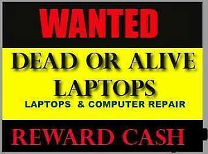 WANTED WANTED BROKEN OR UNUSED  LAPTOPS