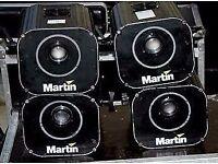 4 x Martin Professional Robocolor Pro400