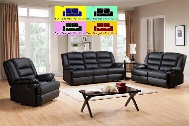 !!LUXURY CHICAGO FULL BONDED LEATHER RECLINER , 3+2+1
