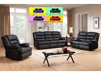 !!LUXURY CHICAGO FULL BONDED LEATHER RECLINER , 3+2+1 ,IN BLACK AND BROWN COLOR ,WE COVER ALL M25