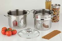 paderno 8L Stock Pot w/steamer and lid