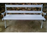 heavy duty cast iron garden bench