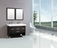 "WOW BLOW OUT SOFIA 48"" BATHROOM VANITY DOUBLE SINKS $499"