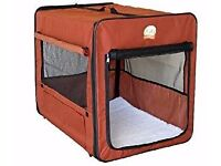 "New - Go Pet Club Portable Storage Soft Crate for Pets (32"" L x 22.2"" W x 23.5"" H, Brown)"