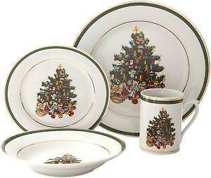 Christmas Dinnerware EBay  sc 1 st  Best Image Engine & Scintillating Gibson Christmas Morning Dinnerware Set 16 Piece ...