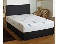 💛💛SAME DAY FAST DELIVERY💛💛NEW DOUBLE DIVAN BED BASE INCLUDING MATTRESS (Headboard Optional)