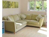 Green dfs corner sofa