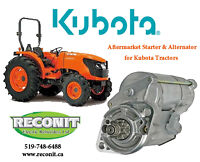 Kubota Starter & Alternators - Brand New