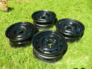 4 - 16 inch  Black Steel Rims ,  5x 110 bolt pattern $100.