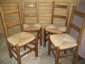 3 SOLID DINING / KITCHEN / OUTDOOR CHAIRS Kirribilli North Sydney Area Preview